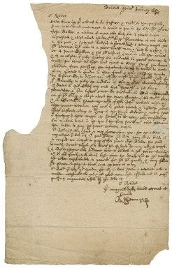 Letter from Richard Young, Bristol, to Sir Robert Rich