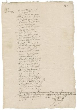 Great Britain. Privy Council. Letter signed by nine members. To the Justices of the Peace of Surrey. Greenwich.
