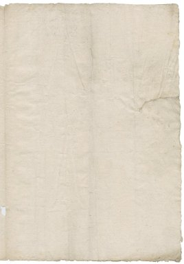 Saunders, Sir Thomas. Receipt for armor taken from Sir Thomas Cawarden about January 30, 1553/54.