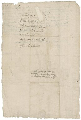Saunders, Sir Thomas. Letter signed. To Lady Elizabeth Cawarden at Blechingley. Flanchford.