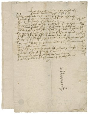 Cawarden, Sir Thomas. A note of the yerlye expenceis of the howshold of sir thomas cawardens knyght Anno secundo Edwardi Sixti.