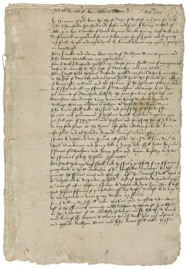 Polsted, Henry. Draft of will of Henry Polsted of Albery, Surrey.