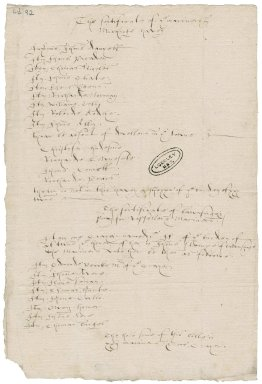 More, Sir William. Lists of ships, their owners, masters, and mariners, for Lancing, Shoreham, and Niching Haven.
