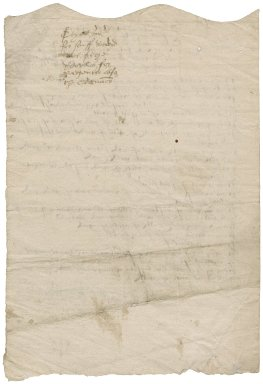 Great Britain. Office of the revels. The note indented of suche garmentes as are this present xiijth of Ianuary 1558 deliuered by Sir Thomas Carden knight master of the quenes revelles vnto John Gressham & John Eliott mercers to be redeliuered the xvjth of this presente moneth of Ianuary next comynge...
