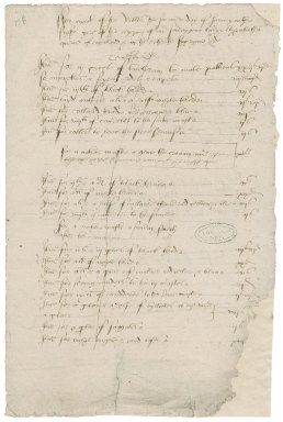 Great Britain. Office of the revels. ffor work of the Revelles the saconde day of Ianuary in the fyrste yere of the reygne of our souerygene ladye elyzabethe quene of engllande & in the erthe the supryme h[ea]de...