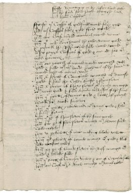 Great Britain. Office of the revels. The Inventory of the stuff of the Revelles Remayning in the Custodye of Sir Thomas Cawerden knyght Master of the said Revelles taken by Mr Myldmaye & others in Maye in the ffyrste yere of Edward the vjth.