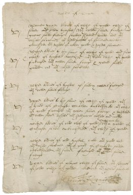 Great Britain. Office of the revels. Stuffe deliuered to the right worshipfull Sir Thomas Bengeare knight out of the office of the Revells the xixth day of December Anno Reginae Elisabethae secundo.