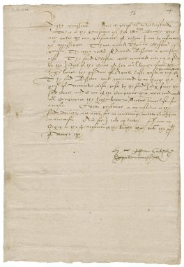 Catisby, John. Certificate concerning certain prisoners in the prison of Her Majesty's Bench.