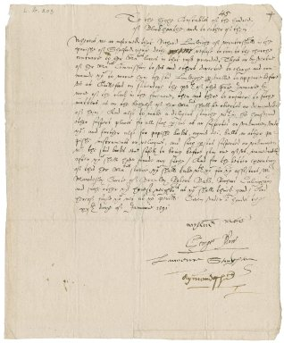 More, Sir William. Warrant signed. To the High Constables of the Hundred of Blackheath, Surrey.