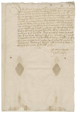 Slyfield, Edmond. Letter signed. To Sir William More and other justices of the peace. Slyfield.