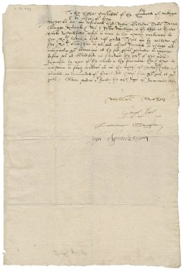 Surrey, England. Commission concerning Jesuits, seminaries, and recusants. Warrant signed. To the high constables of Woking.