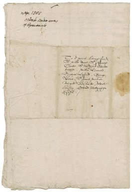 Great Britain. Privy Council. Letter. To Sir William More and other justices of the peace of Surrey. Greenwich.