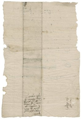 Great Britain. Office of the revels. Bill for goods delivered to Sir Thomas Cawarden from February 12 to 17, 1549.