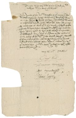 Surrey, England. Commission concerning Jesuits, seminaries, and recusants. Warrant for the arrest of William Ridall of Send. To the High Constables of the Hundred of Woking.