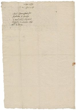 Effingham, William Howard, 1st baron Howard of. Letter. To Sir Thomas Browne.