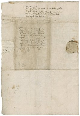 Great Britain. Privy Council. Letter signed by seven members. To Sir William More and other members of the Commission concerning Jesuits, seminaries, and recusants. Greenwich.