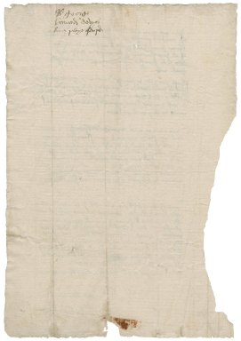 Howard, Sir George. Letter signed. To Sir Thomas Cawarden.