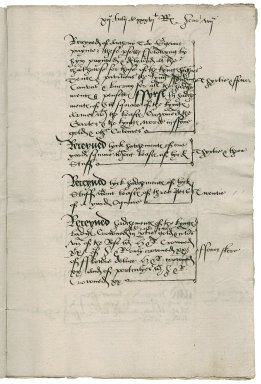 Great Britain. Office of the tents. Memorandum of work done by Anthony Toto. 36 Henry VIII