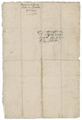 Great Britain. Privy Council. Warrant to provide apparel, signed by five members. To Sir Thomas Cawarden. Westminster.