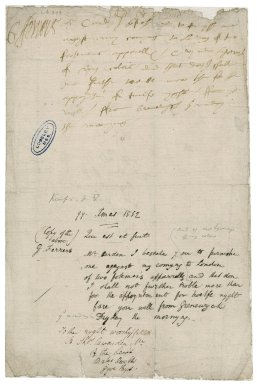 "Ferrers, George. Autograph letter signed. To Sir Thomas Cawarden. ""Grenewych"" [Greenwich]."