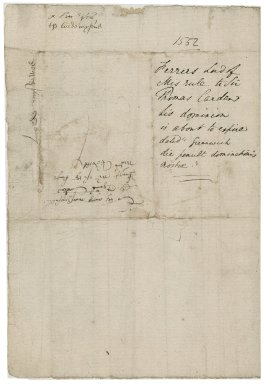 "Ferrers, George. Letter, signed. To Sir Thomas Cawarden. Greenwich. ""dominacionis nostre die penultima"""