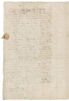 Copley, Sir Thomas. Autograph letter signed. To Sir Thomas Cawarden. Gatton.
