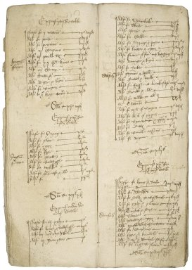 Browne, Sir Anthony. Accounts of receipts and expenses in a journey,