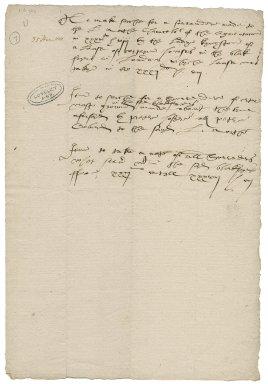 More, Sir William. Memorandum regarding surrenders of Blackfriars leases.