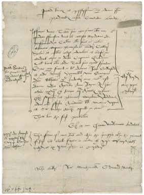 Great Britain. Court of augmentations. Confirmation of a lease of a tenement in the Blackfriars to George Lord Cobham. [copy,