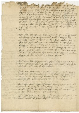 More, Sir William. Notes concerning Sir Thomas Cheyne's tenements in Blackfriars.