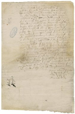 Pembroke, William Herbert, 1st Earl of. Letter, signed. To Sir Thomas Cawarden. Hendon.