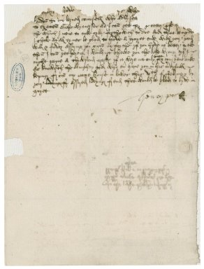 Poole, Henry. Letter signed. To William More at the Blackfriars, London. Lewes.