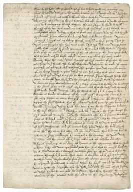 More, Sir William. Draft of a letter. To Sir Francis Walsingham. Blackfriars.