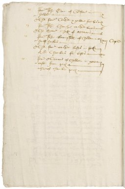 Saunder, Sir Thomas. Inventory of the Armour and artillery of Sir Thomas Cawarden seized by Sir Thomas Saunders & William Saunders Esq. with the names of those persons who conveyed the said armour away.