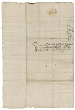 Great Britain. Sovereigns, etc. (Edward VI). Letter. To Sir Thomas Cawarden. St. James's.