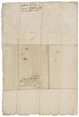Somerset, Edward Seymour, Duke of. Warrant for delivery of a tent to Sir Michael Stanhope. To Sir Thomas Cawarden. Westminster.