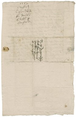 Ramsay, Thomas. Autograph letter signed. To Thomas Cawarden. London.