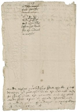 Cawarden, Sir Thomas. Autograph draft of letter. To Edward Hastings, Lord Hastings of Loughborough.