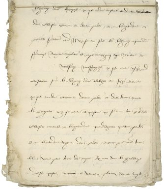 Cawarden, Sir Thomas. Draft of an inquisition post mortem on his estate in London.