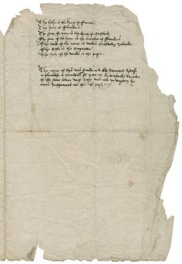 """Accomplishments of the ideal king """"which shall win the holy cross"""": a copy of medieval prophecies."""