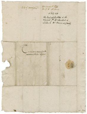 Great Britian. Privy Council. Letter. To William More. Oatlands.