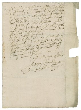 Montagu, Anthony Browne, 1st Viscount. Letter. To William More.