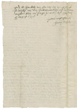 Becher, Henry. Letter. To William More.