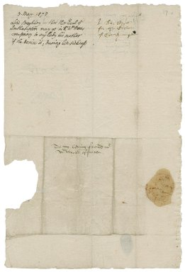 Burghley, William Cecil, Baron. Letter. To William More. From the court.