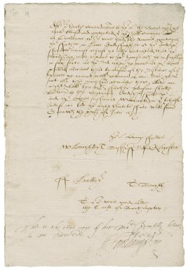 Great Britain. Privy Council. Letter. To Henry Wroithesley, Earl of Southampton. Greenwich.