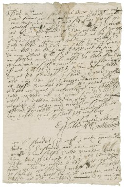 Southampton, Mary (Browne) Wriothesley, Countess of. d. 1607. Letter. To Mistress Margaret More. n.d.