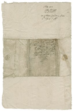 Knight, John. Letter. To Lady Constance More. St. Denys.