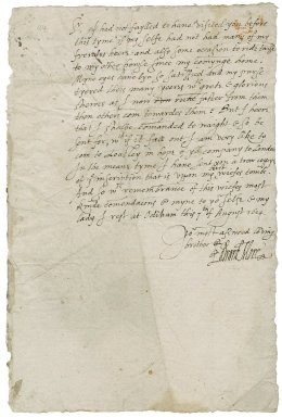 More, Edward. Letter. To Sir George More. Odiham.