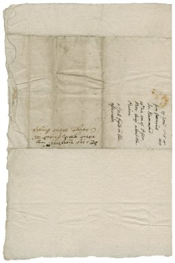 Hammond, John. Letter. To Sir George More. Greenwich.