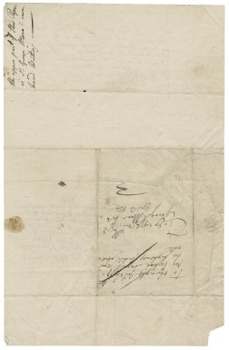 More, Sir George. Letter. To Richard Connock, Auditor-General for Prince Henry. Canon Row.
